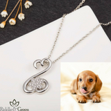 Dachshund Paw Necklace
