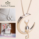 A Kitten on the Moon Necklace