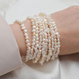 Multilayered Pearls Bracelet