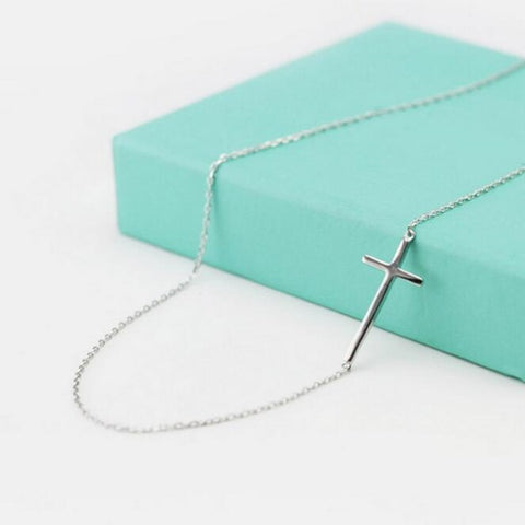 Elegant Silver Cross Necklace