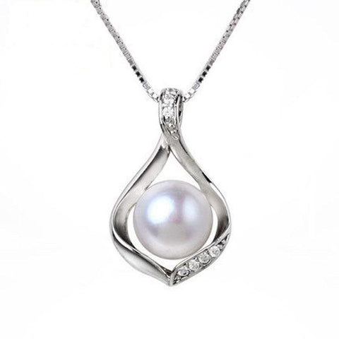Water Drop Freshwater Pearl Necklace