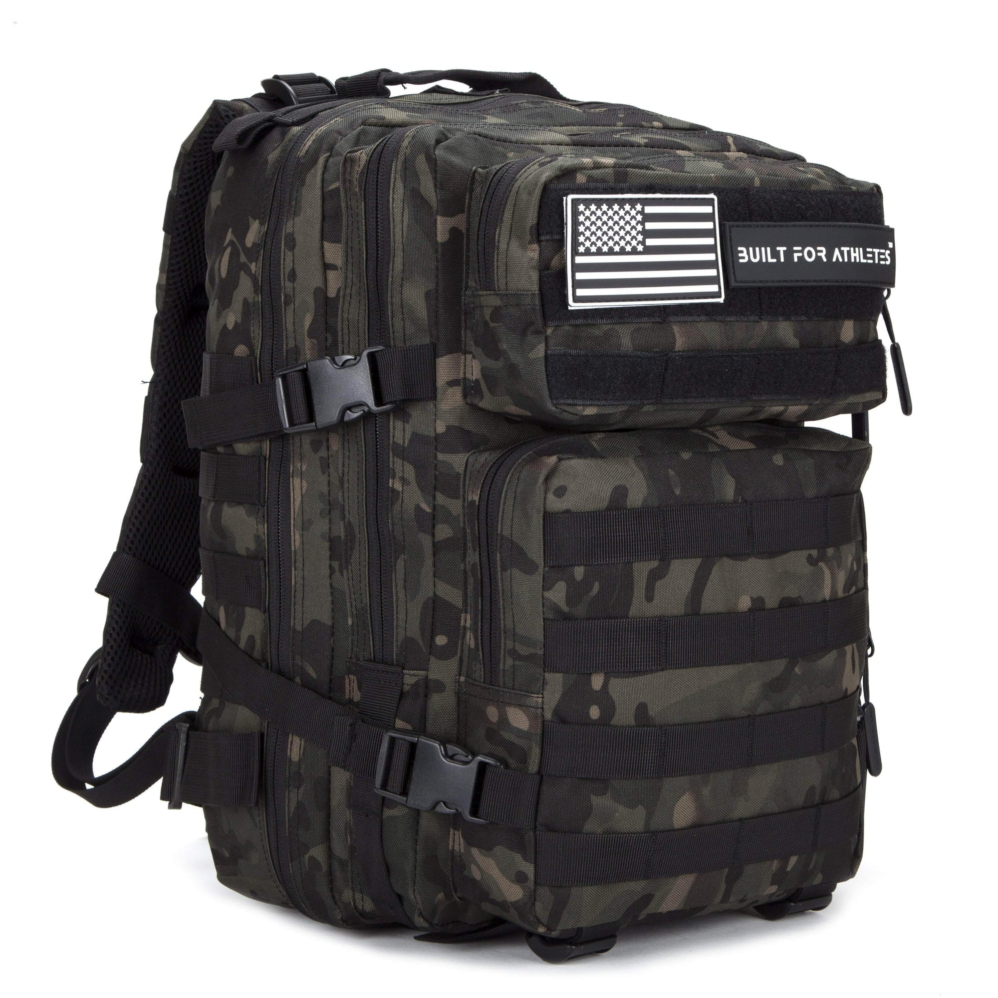 Built for Athletes Backpacks 25L Black Camo Hero Backpack
