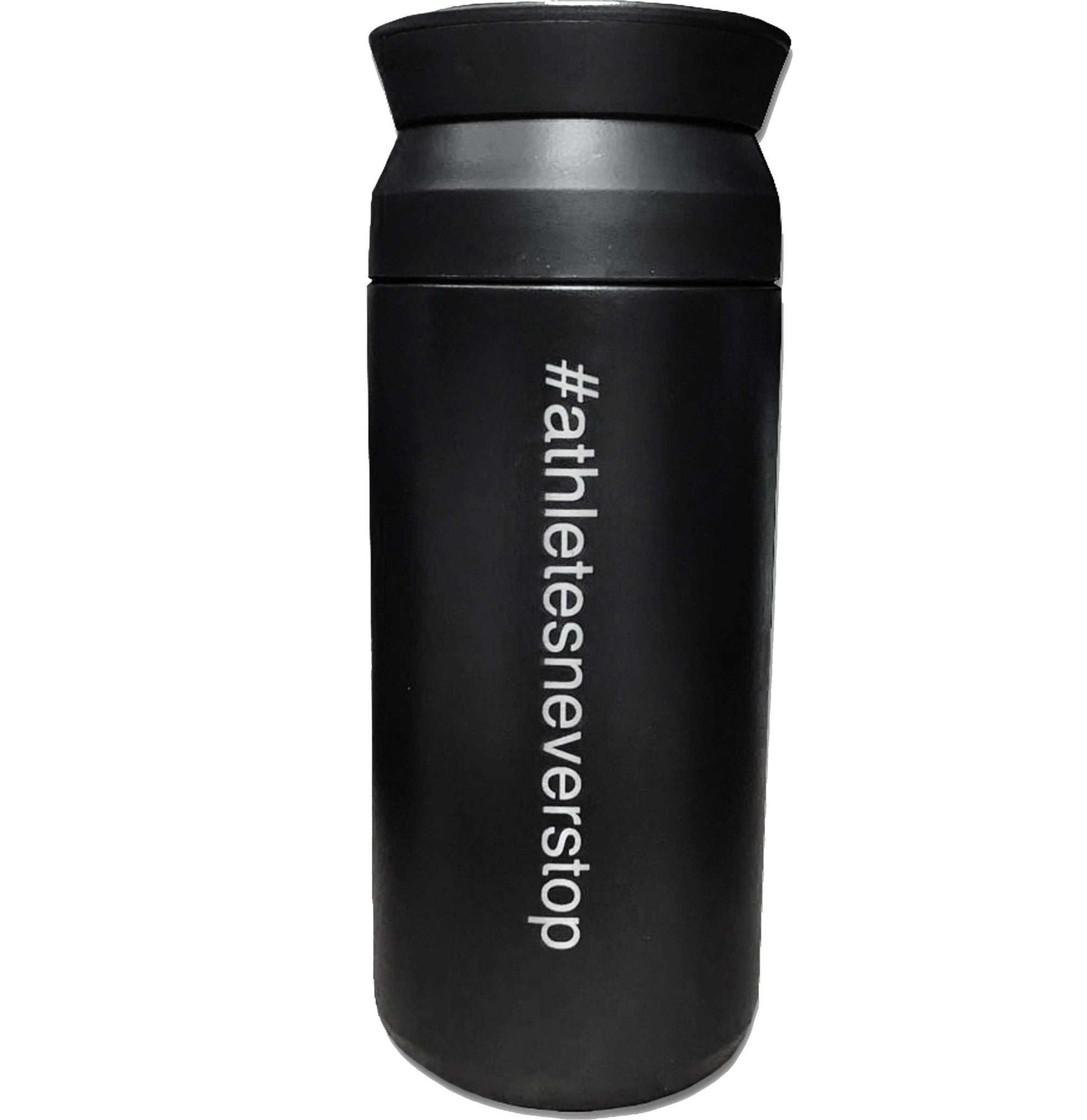 Built for Athletes Bottles Black Stainless Steel Reusable Coffee Cup