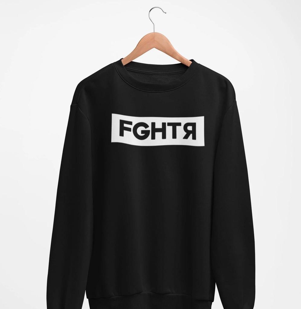 Classic FGHTR Black Sweater-FGHTR