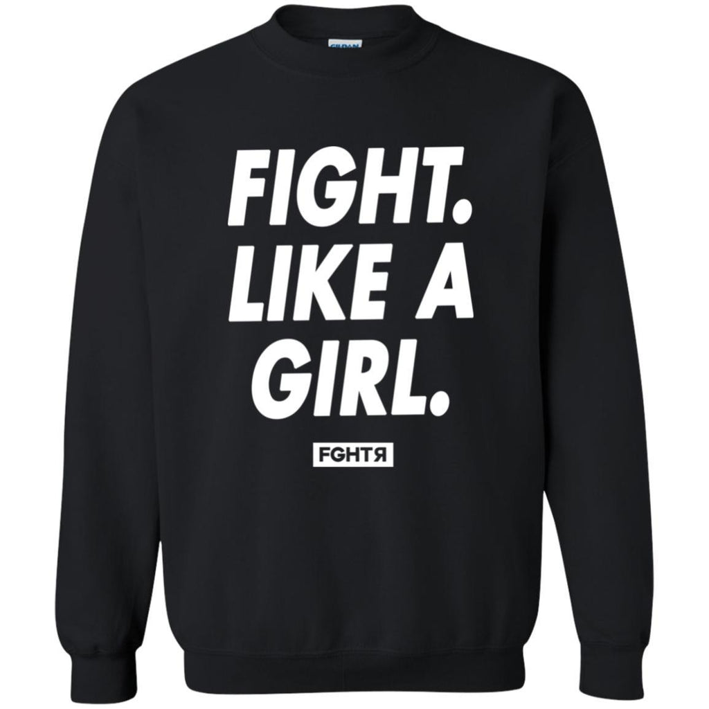 Fight Like A Girl Sweater - Black-FGHTR