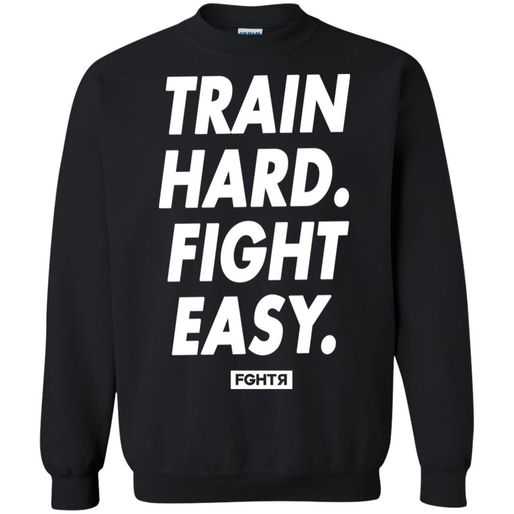 Train Hard Sweater - Black-FGHTR
