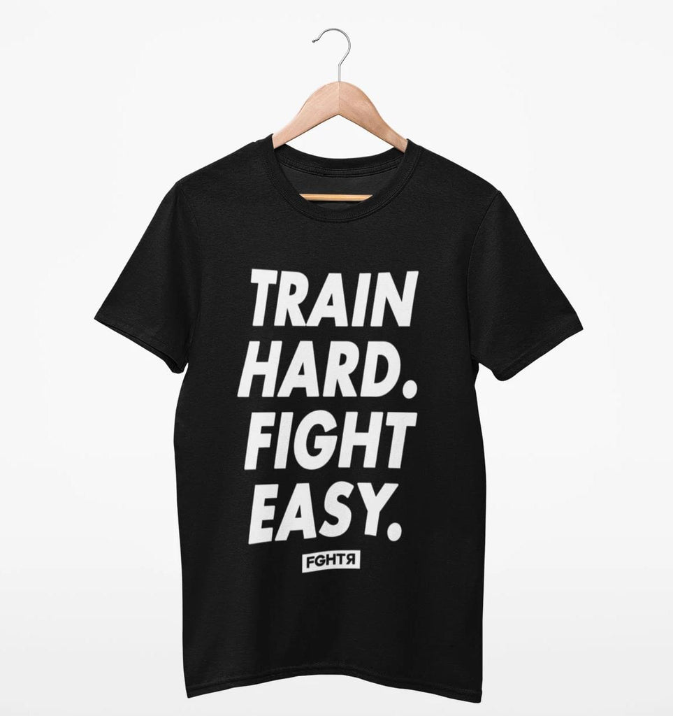 Train Hard T-Shirt - Black-FGHTR