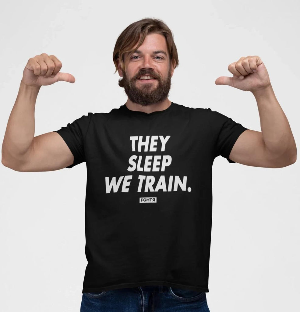 We Train T-Shirt - Black-FGHTR