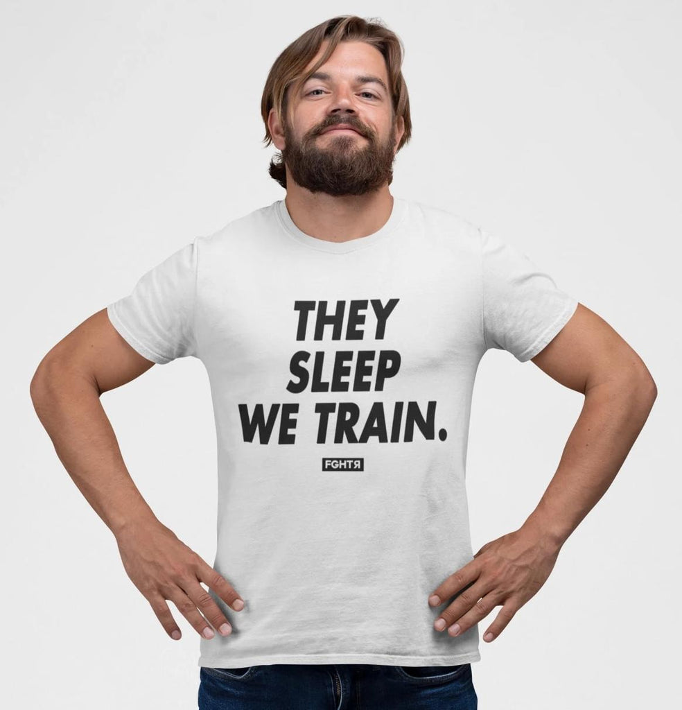 We Train T-Shirt - White-FGHTR