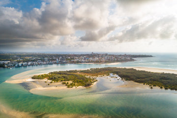 Aerial Caloundra - [product_tags] - The Salty Pixel