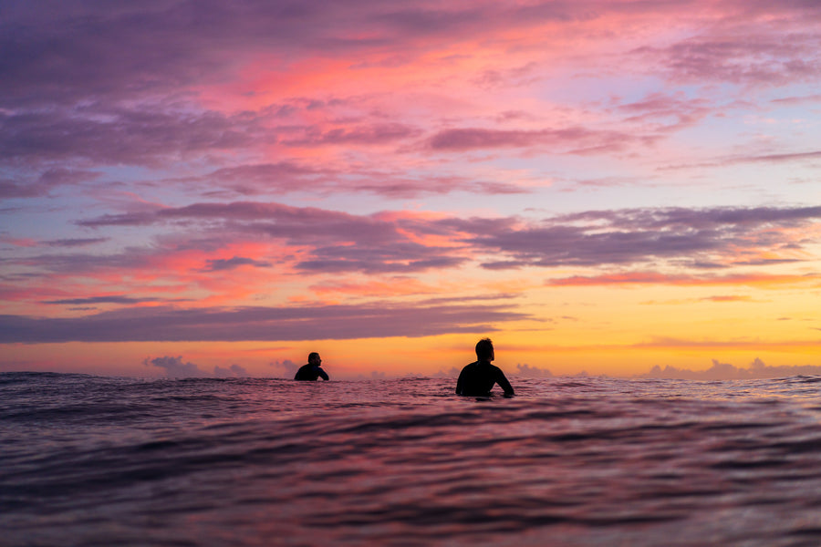 Two Surfer Sunrise