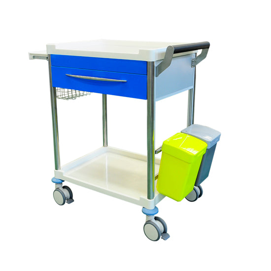 Treatment Trolley 1 Drawer - BLUE