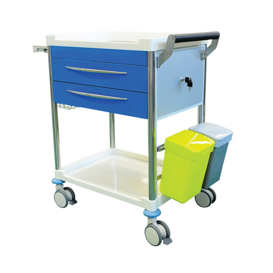 Treatment Trolley  2 Drawer - BLUE