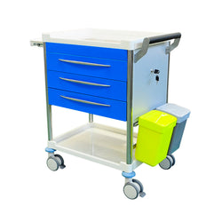 Treatment Trolley 3 Drawer - BLUE