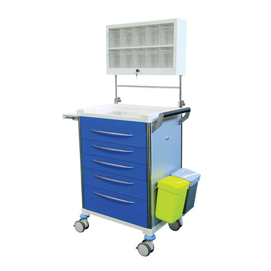 Anesthesia Trolley - BLUE Drawers