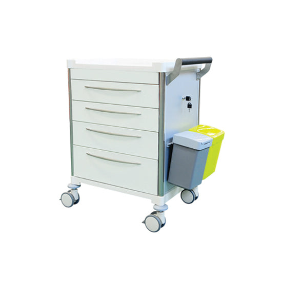 Medicine Trolley  - WHITE Drawers