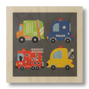 wood panel print - vehicle