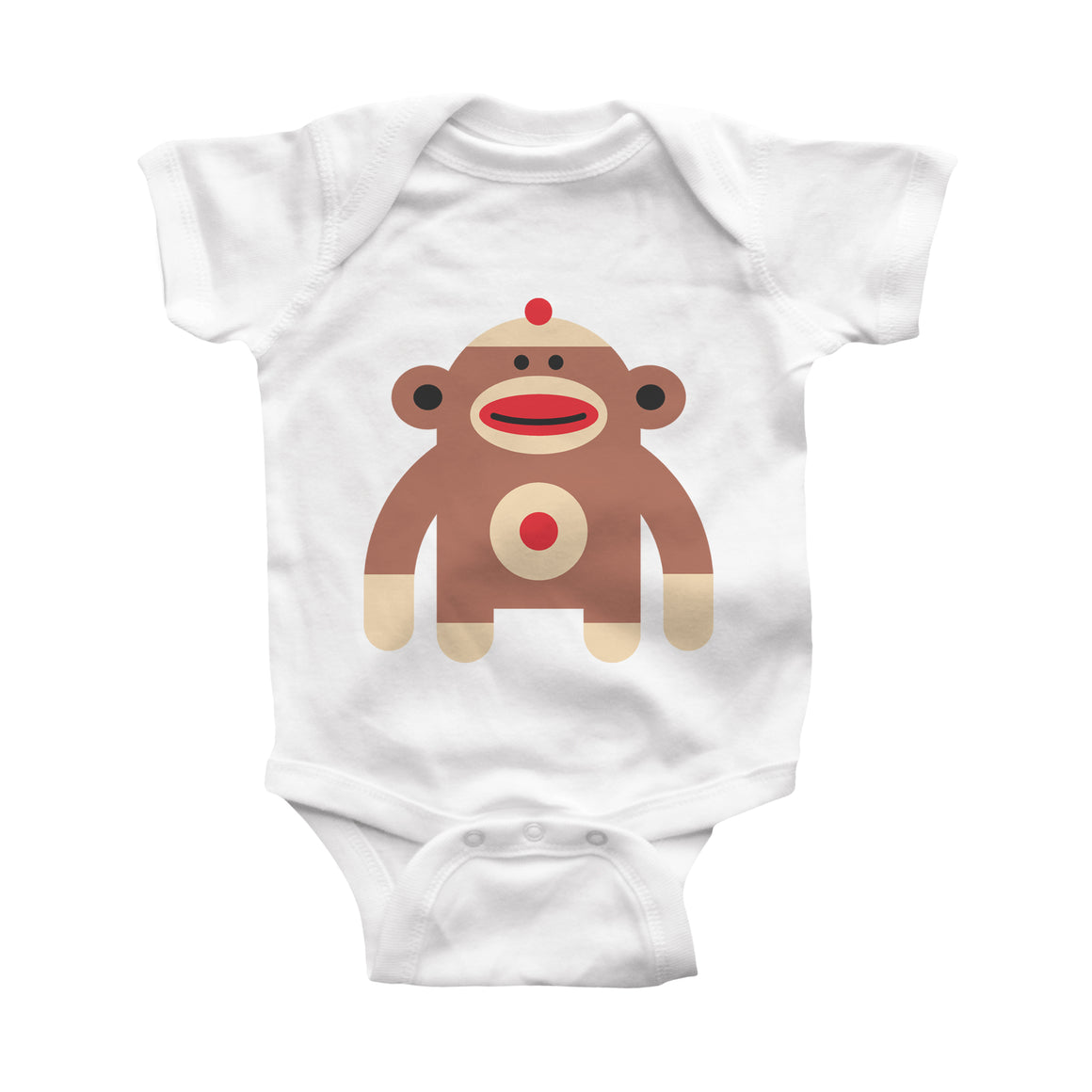 sockmonkey infant bodysuit