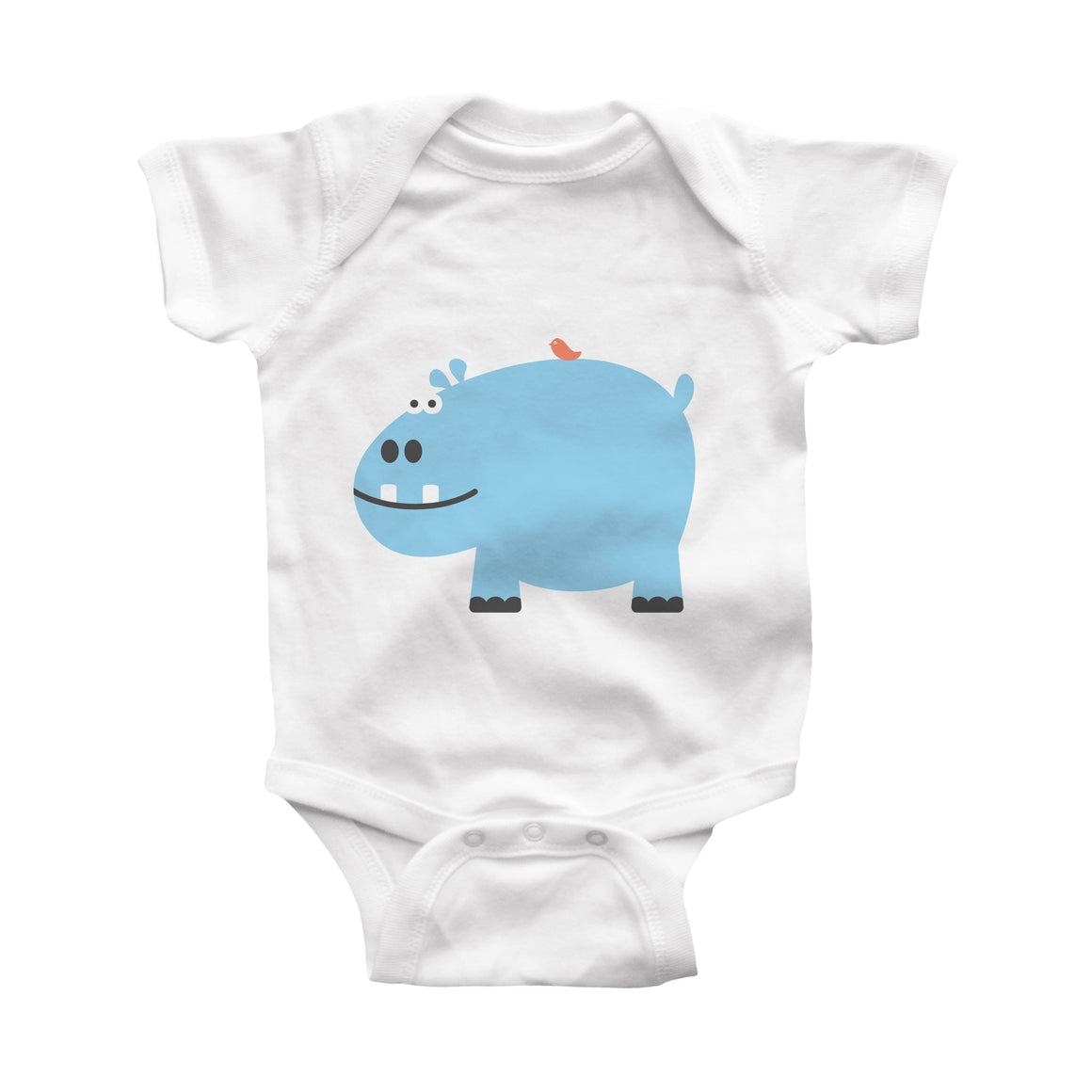 hippo infant bodysuit