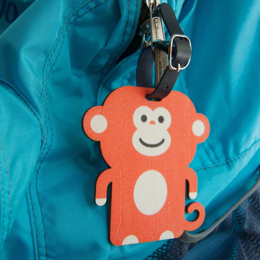 monkey bag tag - modern moose - bag tag - 3