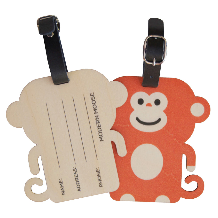 monkey bag tag - modern moose - bag tag - 2