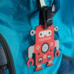 robot bag tag - modern moose - bag tag - 3
