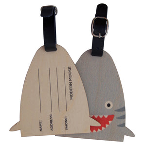 shark bag tag - modern moose - bag tag - 2