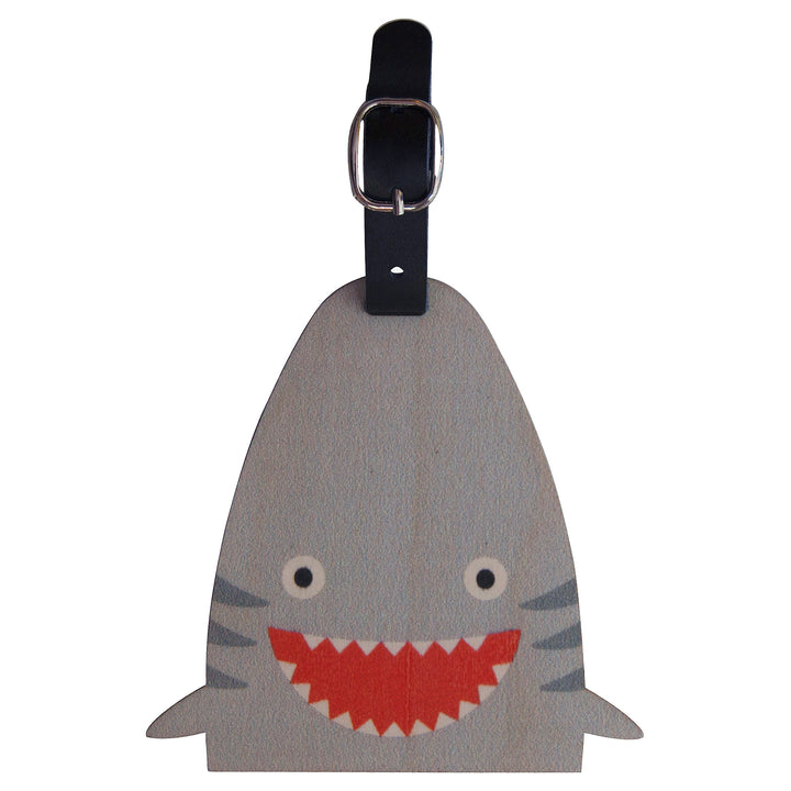 shark bag tag - modern moose - bag tag - 1