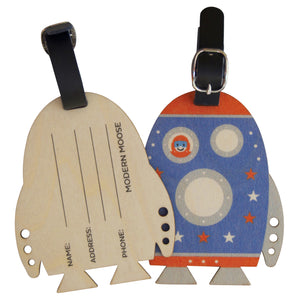rocket bag tag - modern moose - bag tag - 2