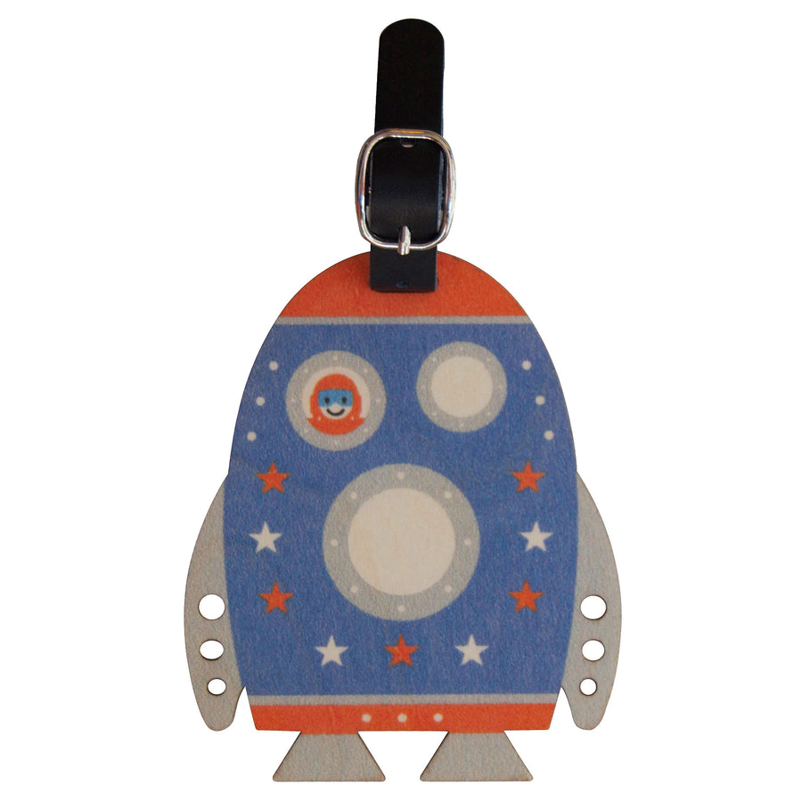 rocket bag tag - modern moose - bag tag - 1