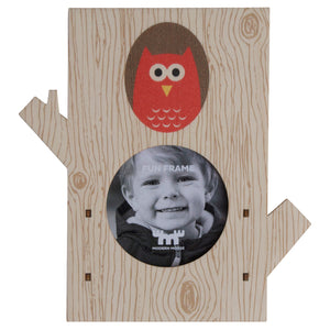 tree owl fun frame - modern moose - fun frame - 1