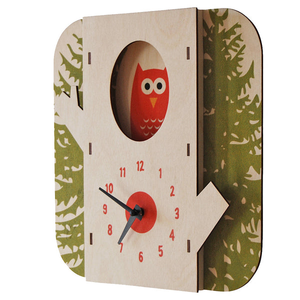tree owl clock - modern moose - clock - 1