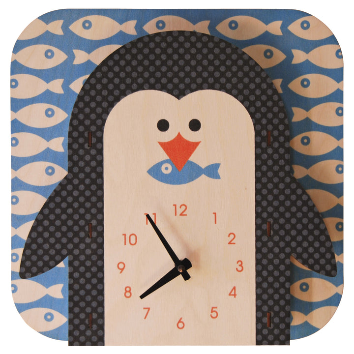 penguin - modern moose - clock - 1