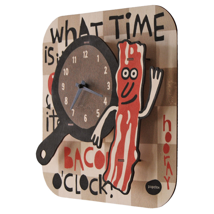 bacon clock - modern moose - clock - 2
