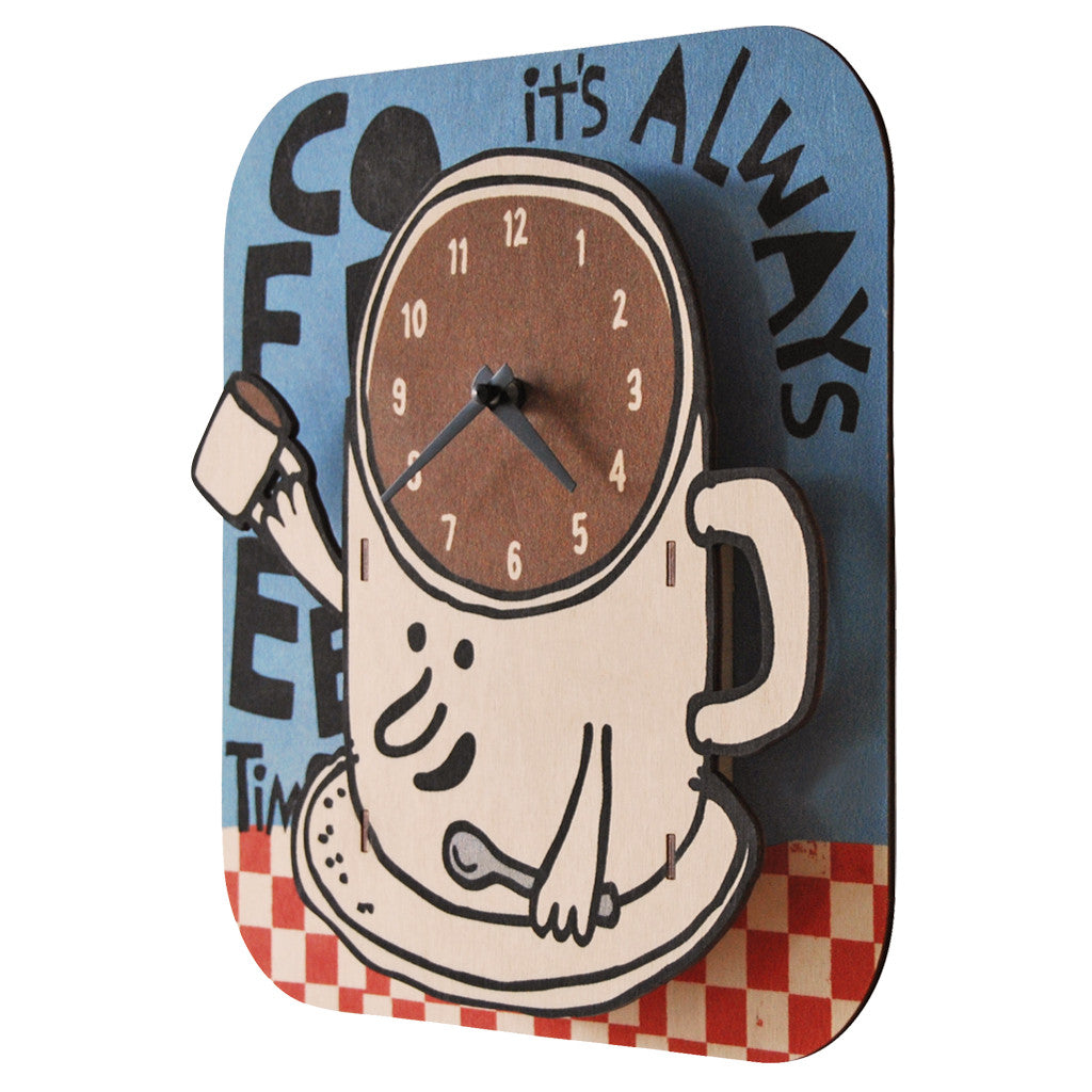 coffee clock - modern moose - clock - 2