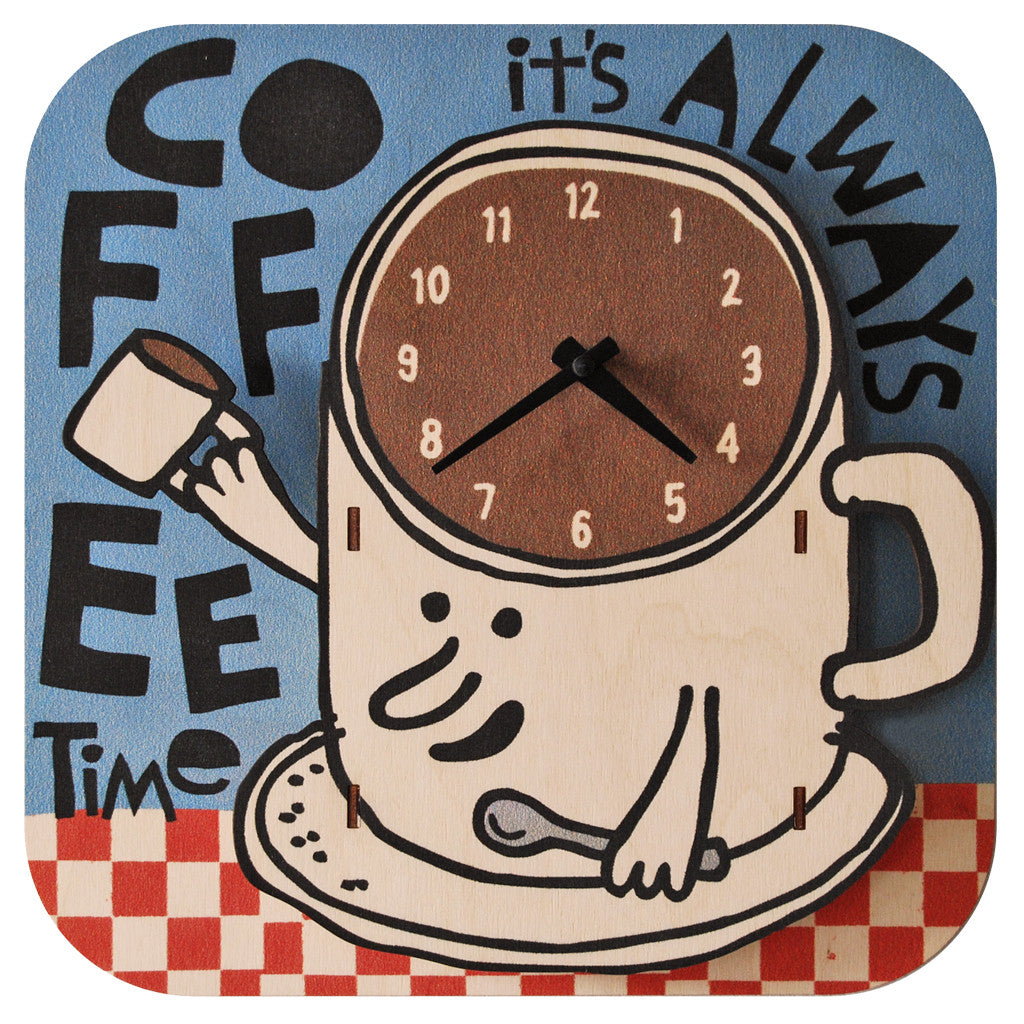 coffee clock - modern moose - clock - 1