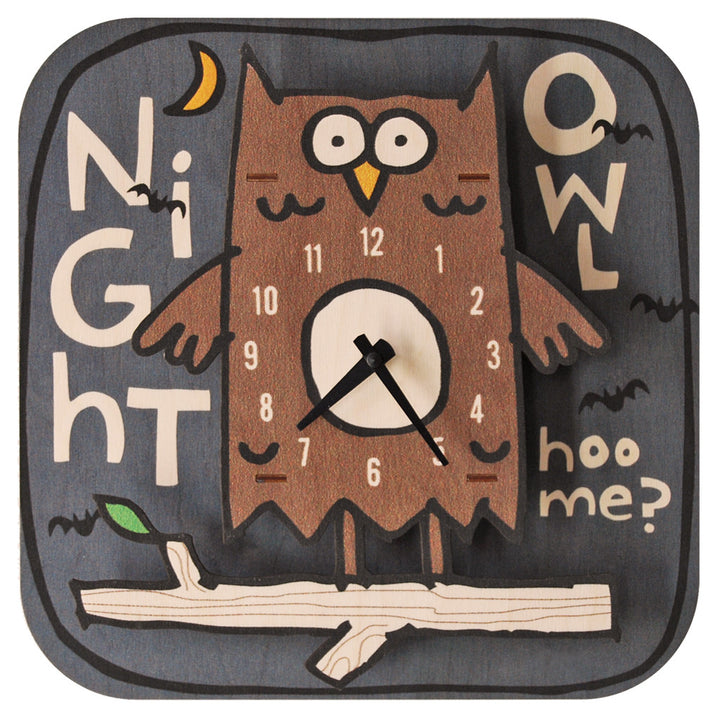night owl clock - modern moose - clock - 1