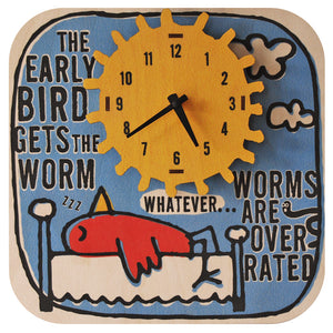 early bird clock - modern moose - clock - 1