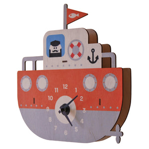 tugboat clock - modern moose - clock - 2