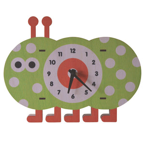 caterpillar clock - modern moose - clock - 1