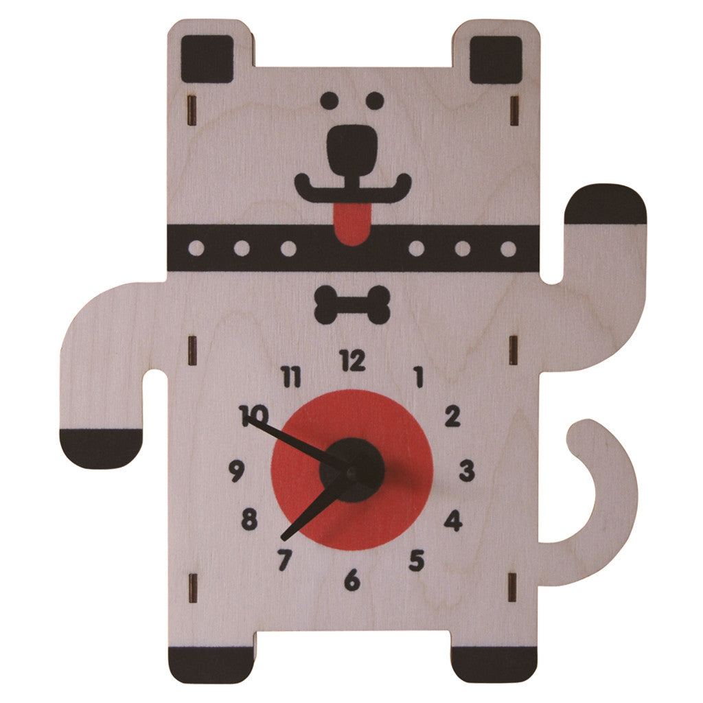 dog clock - modern moose - clock - 1