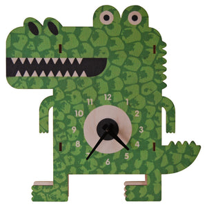 alligator clock - modern moose - clock - 1