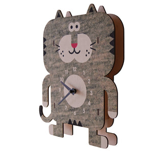 weezie cat clock - modern moose - clock - 2