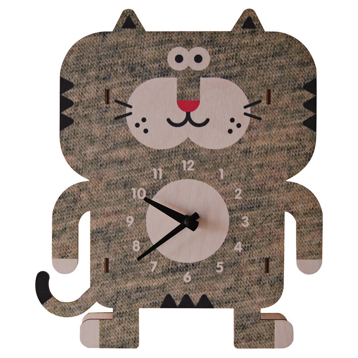 weezie cat clock - modern moose - clock - 1