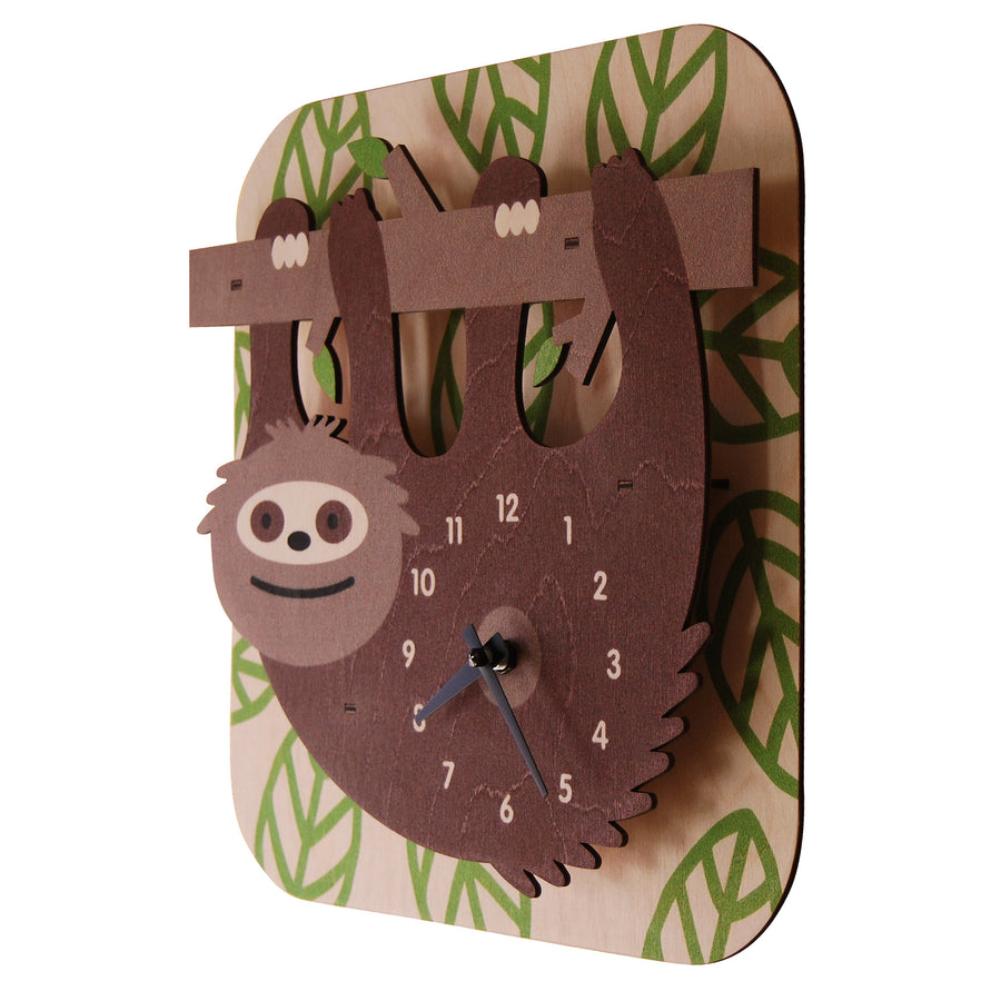 sloth clock - modern moose - clock - 2