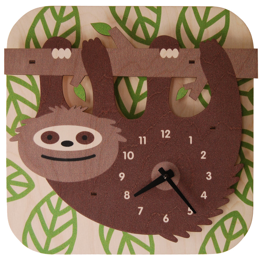 sloth clock - modern moose - clock - 1