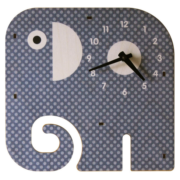 trunk clock - modern moose - kids clock - 1