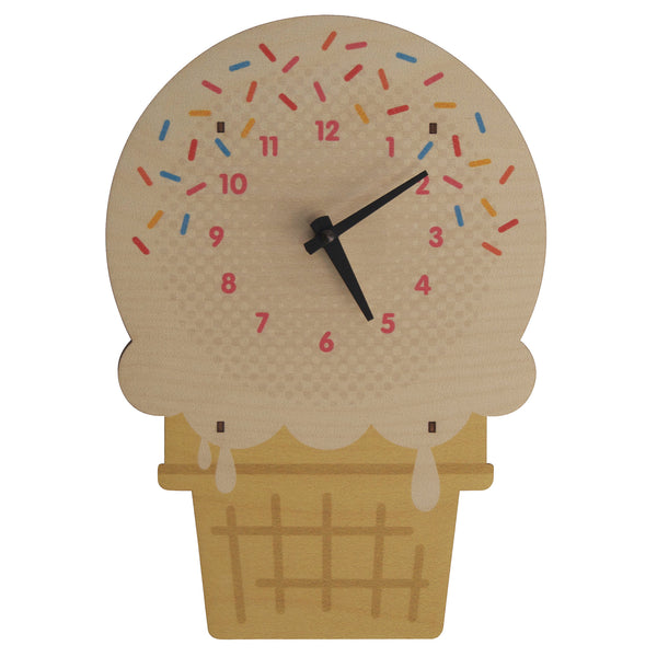 ice cream clock - modern moose - kids clock - 1