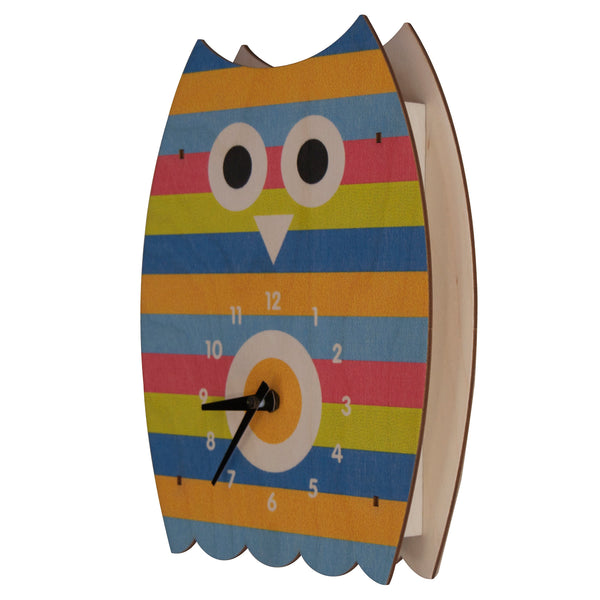barney owl clock - modern moose - kids clock - 1