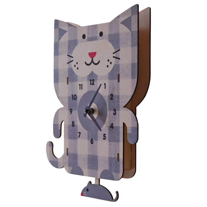 cat pendulum clock - modern moose - pendulum clock - 2